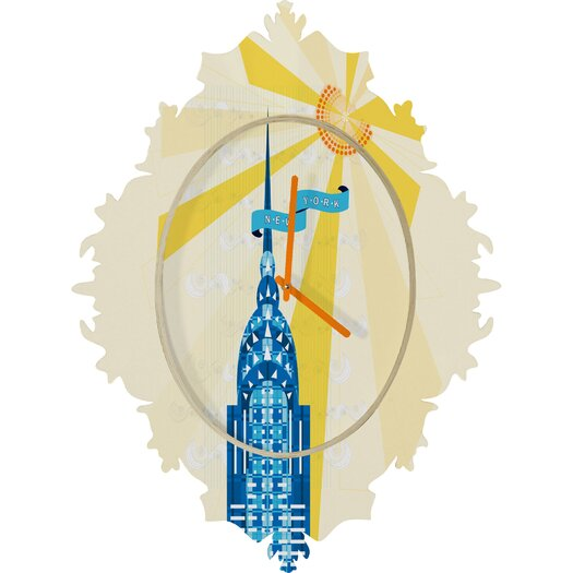 DENY Designs Jennifer Hill NYC Chrysler Building Wall Clock
