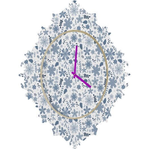 DENY Designs Jennifer Denty Genevieve Floral Wall Clock