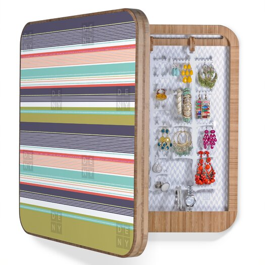 DENY Designs Wendy Kendall Multi Stripe Jewelry Box