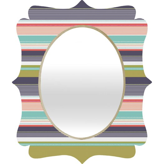 DENY Designs Wendy Kendall Multi Stripe Wall Mirror