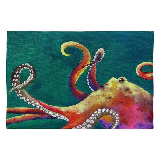 DENY Designs Clara Nilles Mardi Gras Octopus Novelty Rug