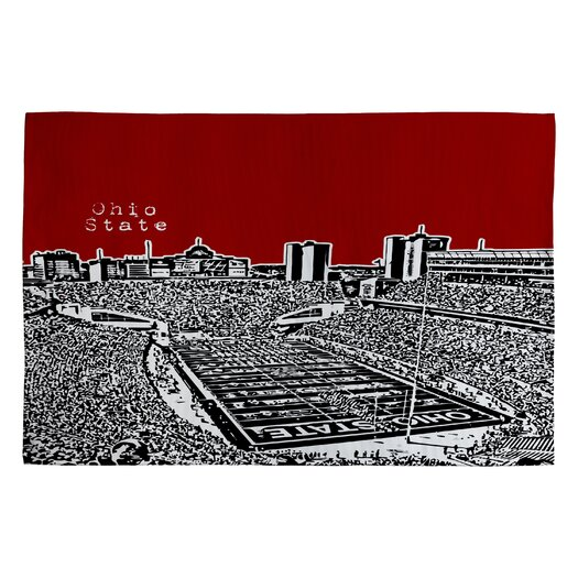 DENY Designs Bird Ave Ohio State Buckeyes Novelty Rug