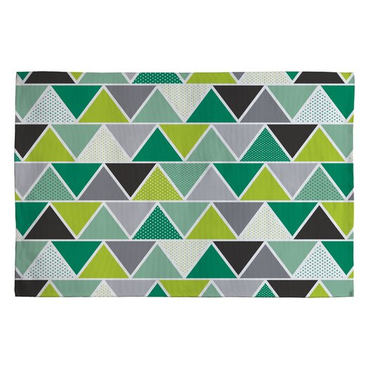 DENY Designs Heather Dutton Emerald Triangulum Green Geometric Area Rug