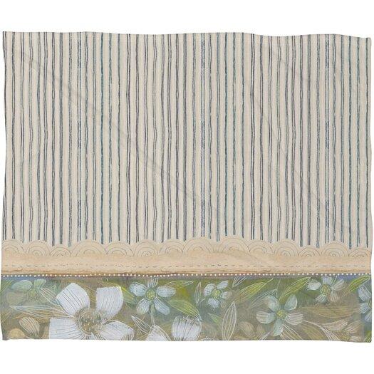 DENY Designs Cori Dantini Blue and White Stripes Polyester Fleece Throw Blanket