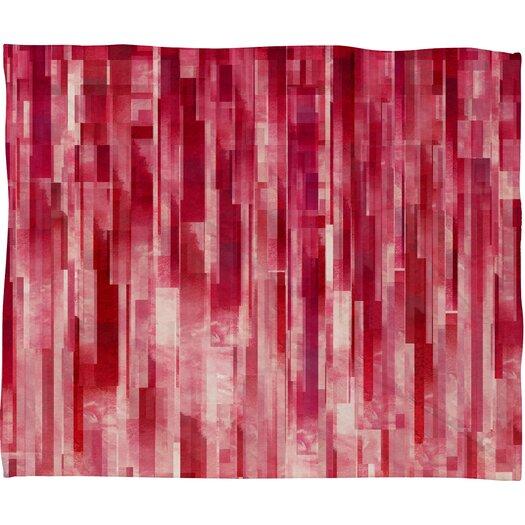 DENY Designs Jacqueline Maldonado Red Rain Polyester Fleece Throw Blanket