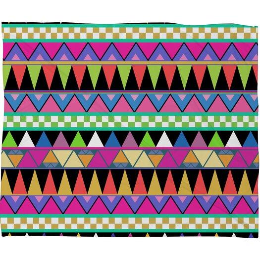 DENY Designs Bianca Green Zigzag Polyester Fleece Throw Blanket