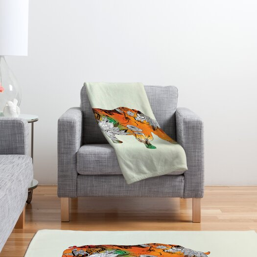DENY Designs Iveta Abolina Rhino Polyester Fleece Throw Blanket