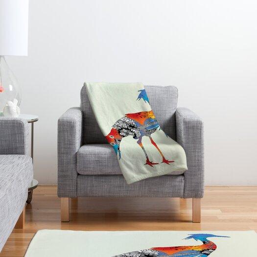 DENY Designs Iveta Abolina Bluebird Polyester Fleece Throw Blanket