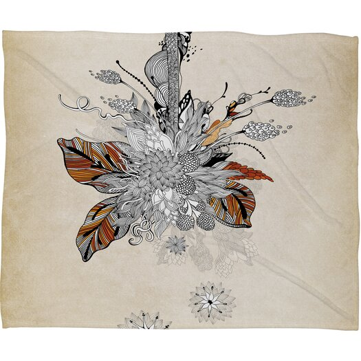 DENY Designs Iveta Abolina Floral 2 Polyester Fleece Throw Blanket