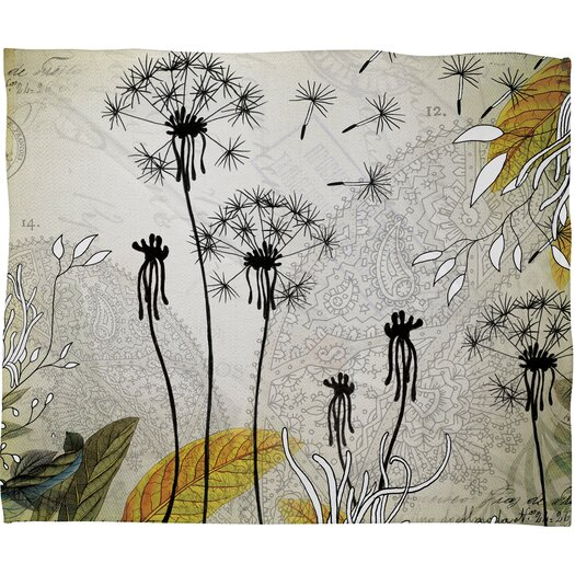DENY Designs Iveta Abolina Little Dandelion Polyester Fleece Throw Blanket