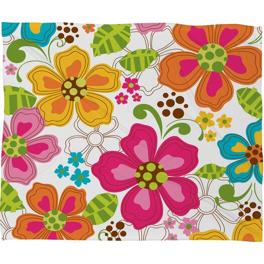 DENY Designs Khristian A Howell Kaui Blooms Polyester Fleece Throw Blanket