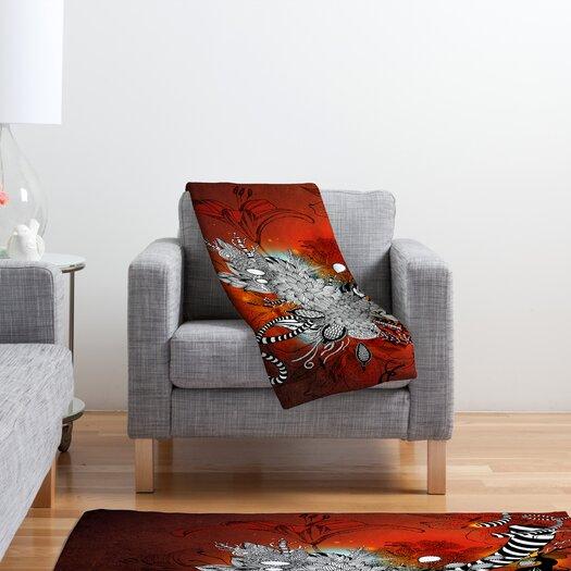 DENY Designs Iveta Abolina Wild Lilly Polyester Fleece Throw Blanket