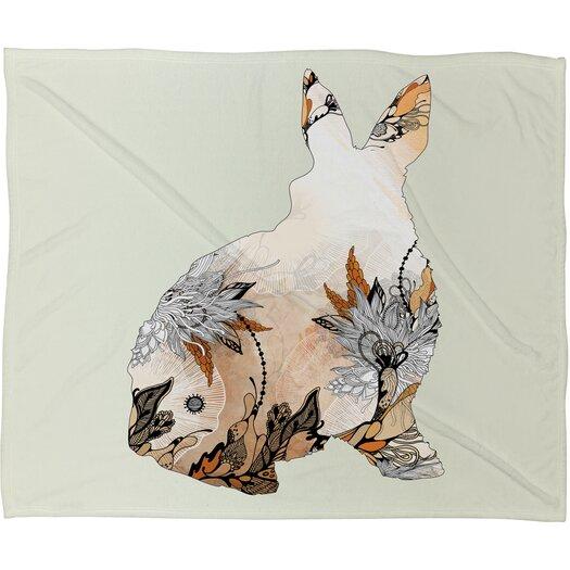 DENY Designs Iveta Abolina Little Rabbit Polyester Fleece Throw Blanket