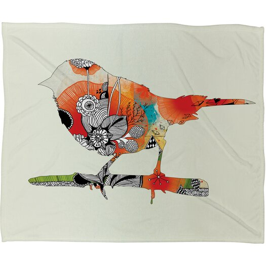 DENY Designs Iveta Abolina Little Bird Polyester Fleece Throw Blanket