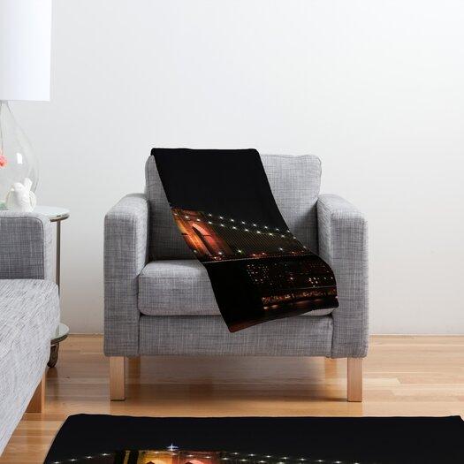 DENY Designs Leonidas Oxby Brooklyn Bridge 2 Polyester Fleece Throw Blanket