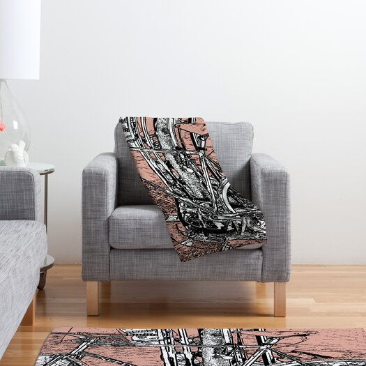 DENY Designs Romi Vega Bike Polyester Fleece Throw Blanket