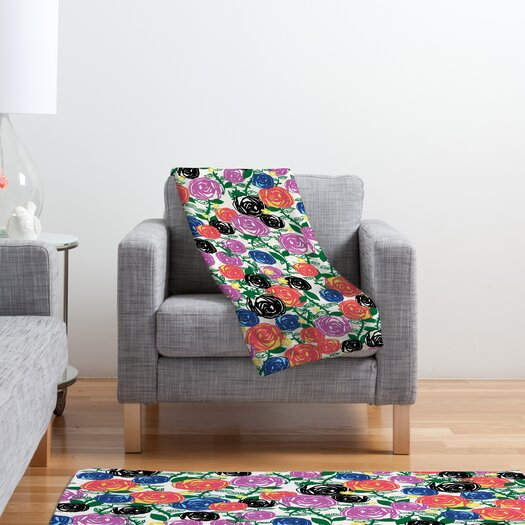DENY Designs Khristian A Howell Valencia 5 Polyester Fleece Throw Blanket