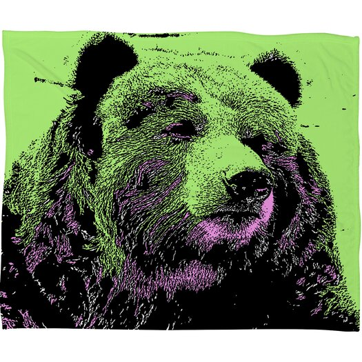 DENY Designs Romi Vega Bear Polyester Fleece Throw Blanket