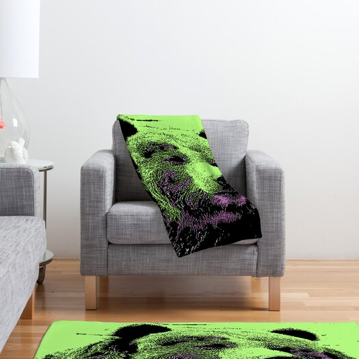 DENY Designs Romi Vega Bear Polyester Fleece Throw Blanket