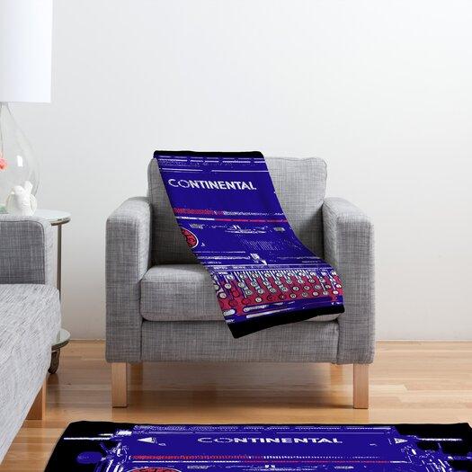DENY Designs Romi Vega Continental Typewriter Polyester Fleece Throw Blanket