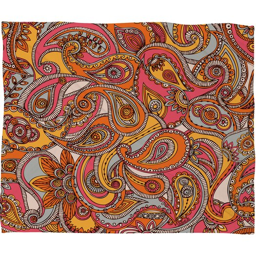 DENY Designs Valentina Ramos Spring Paisley Polyester Fleece Throw Blanket