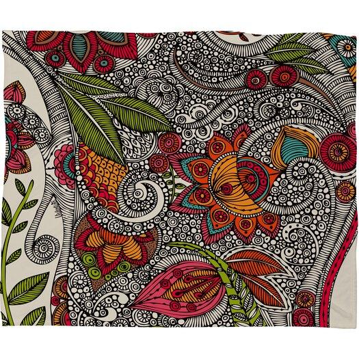 DENY Designs Valentina Ramos Random Flowers Polyester Fleece Throw Blanket