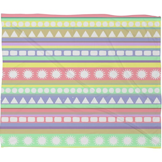 DENY Designs Romi Vega Pastel Pattern Polyester Fleece Throw Blanket