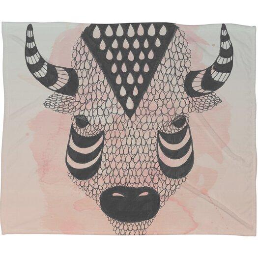 DENY Designs Wesley Bird Buffy Polyester Fleece Throw Blanket