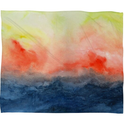 DENY Designs Jacqueline Maldonado Brushfire Polyester Fleece Throw Blanket