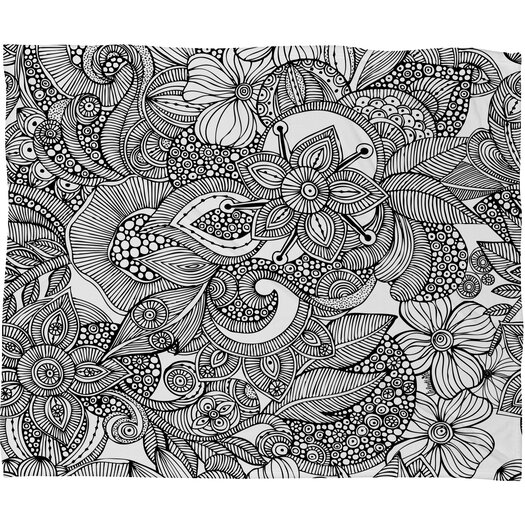 DENY Designs Valentina Ramos Doodles Polyester Fleece Throw Blanket