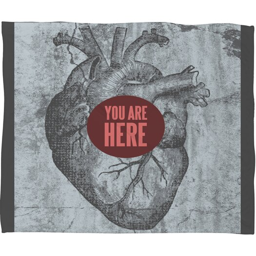 DENY Designs Wesley Bird You Are Here Polyester Fleece Throw Blanket