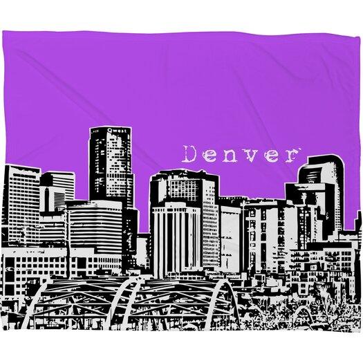 DENY Designs Bird Ave Denver Polyester Fleece Throw Blanket