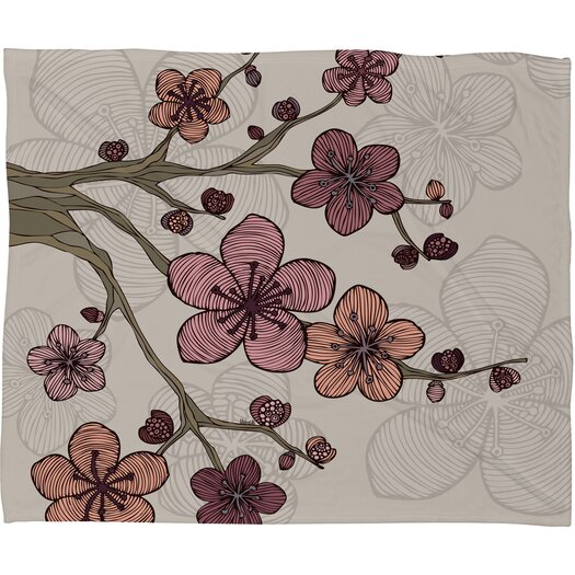 DENY Designs Valentina Ramos Blossom Polyester Fleece Throw Blanket
