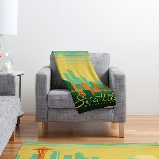 DENY Designs Anderson Design Group Seattle Polyester Fleece  Throw Blanket