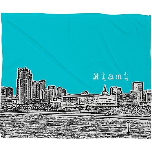 DENY Designs Bird Ave Miami Polyester Fleece Throw Blanket