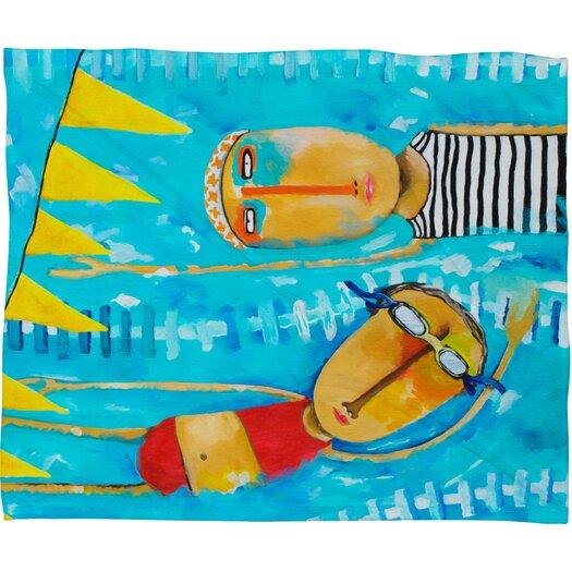 DENY Designs Robin Faye Gates Swimming Is Hard Polyester Fleece Throw Blanket