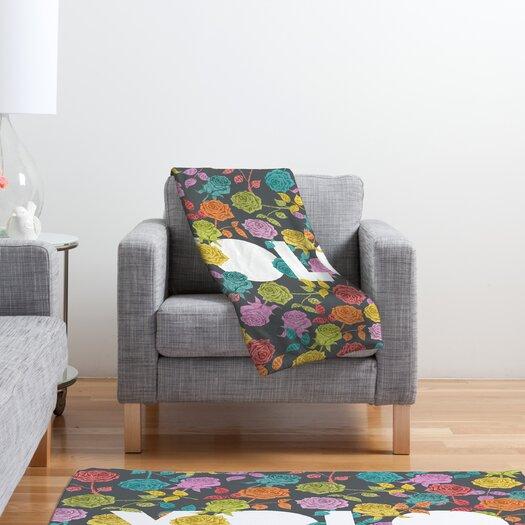 DENY Designs Bianca Green Yolo Polyester Fleece Throw Blanket