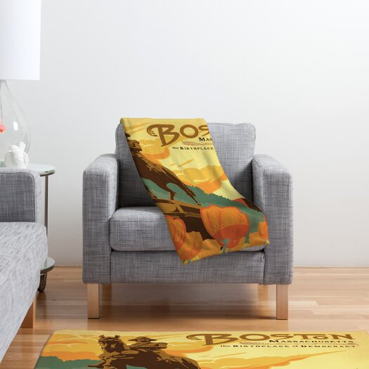 DENY Designs Anderson Design Group Boston Polyester Fleece Throw Blanket