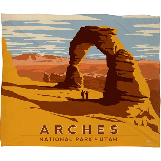 DENY Designs Anderson Design Group Arches Polyester Fleece  Throw Blanket