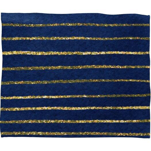 DENY Designs Social Proper Nautical Sparkle Polyester Fleece Throw Blanket
