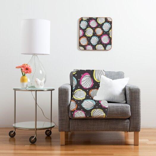 DENY Designs Rachael Taylor Scribble Shells Polyester Fleece Throw Blanket