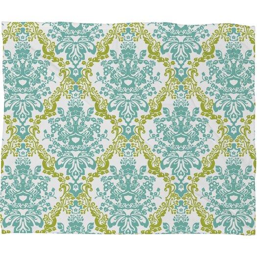 DENY Designs Rebekah Ginda Design Lovely Damask Polyesterrr Fleece Throw Blanket
