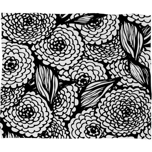 DENY Designs Julia Da Rocha Bouquet of Flowers Love Polyesterrr Fleece Throw Blanket