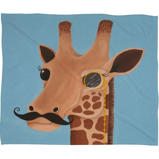 DENY Designs Mandy Hazell Gentleman Giraffe Polyesterrr Fleece Throw Blanket