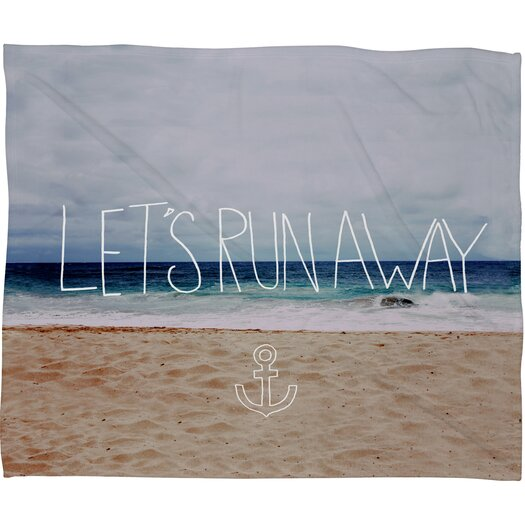 DENY Designs Leah Flores Lets Run Away III Polyesterrr Fleece Throw Blanket