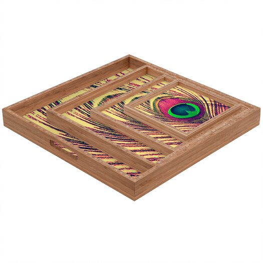 DENY Designs Shannon Clark Peacock 2 Square Tray