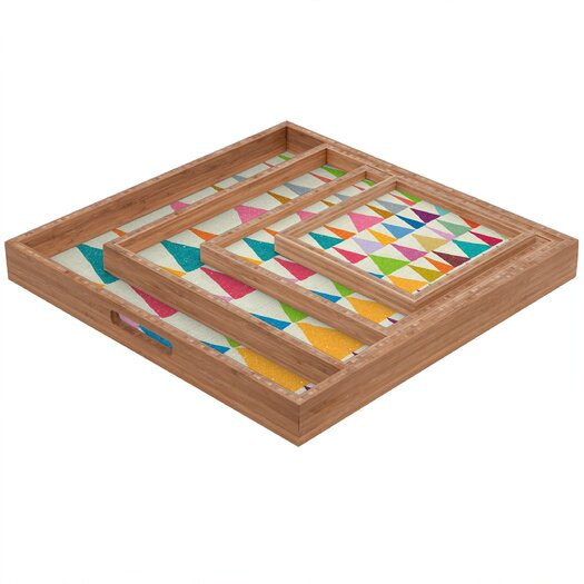 DENY Designs Nick Nelson Analogous Shapes in Bloom Square Tray