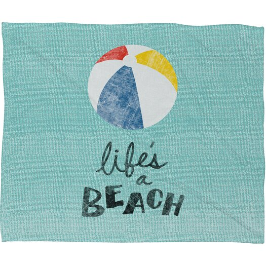 DENY Designs Nick Nelson Lifes A Beach Polyesterrr Fleece Throw Blanket