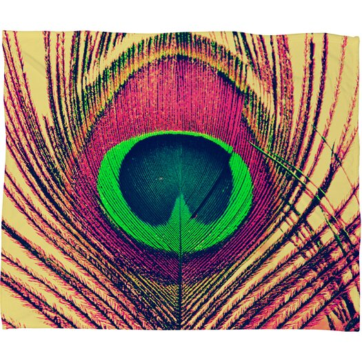 DENY Designs Shannon Clark Peacock 2 Polyesterr Fleece Throw Blanket