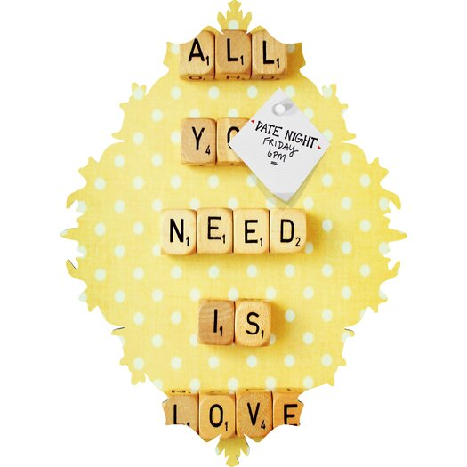 DENY Designs Happee Monkee All You Need Is Love 1 Baroque Memo Board